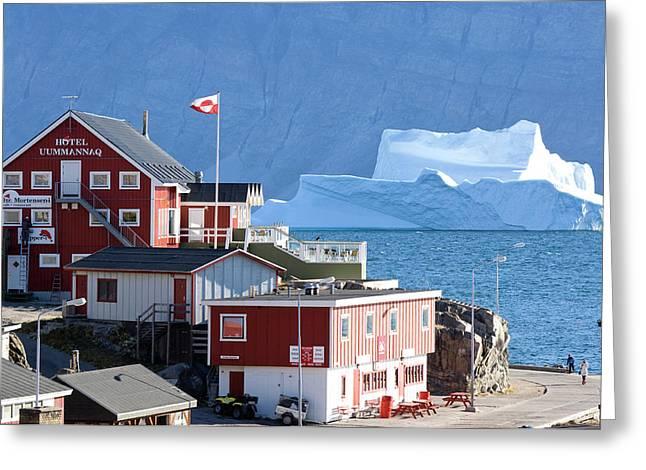 Village Uummannaq Greenland Greeting Card by Daisy Gilardini