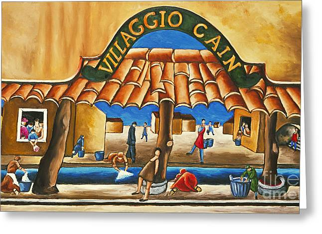 Villaggio Cain Art Print Greeting Card by William Cain