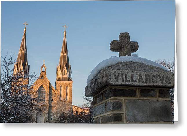 Villanova Wall And Chapel Greeting Card by Photographic Arts And Design Studio