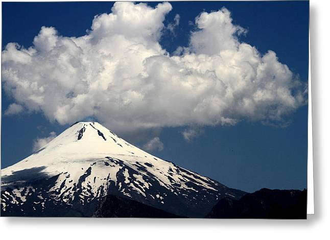 Villarrica Volcano Greeting Card by Arie Arik Chen