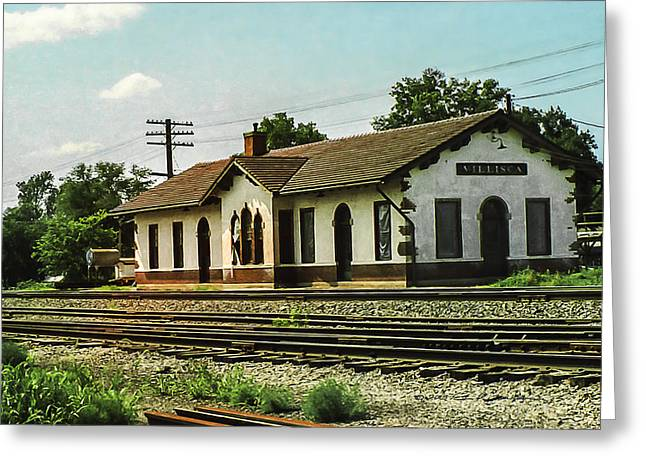 Villisca Train Depot Greeting Card
