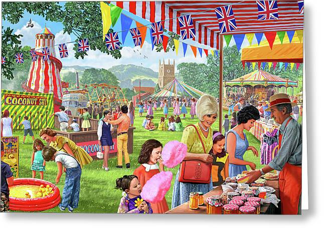 Villlage Fete 1960's Version 1 Greeting Card