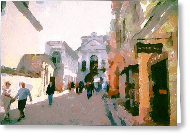 Vilnius Old Town 10 Greeting Card by Yury Malkov