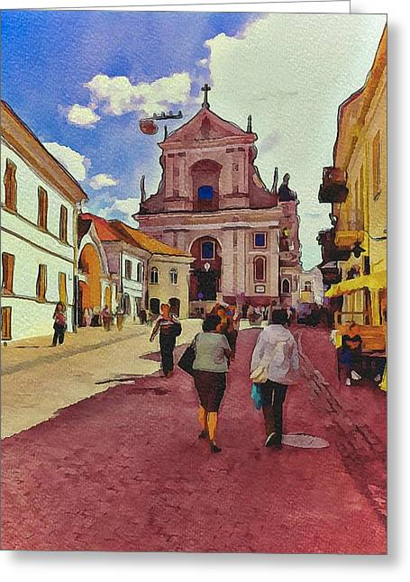 Vilnius Old Town 12 Greeting Card by Yury Malkov