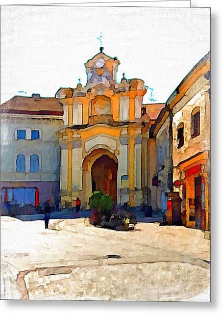 Vilnius Old Town 33 Greeting Card by Yury Malkov
