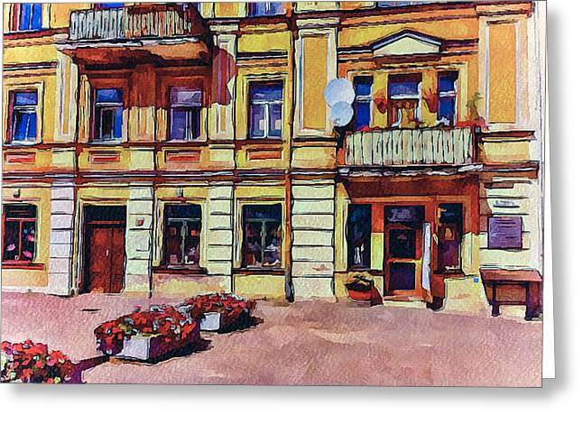 Vilnius Old Town Architecture Greeting Card by Yury Malkov