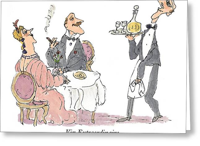 Vin Extraordinaire Greeting Card by William Steig