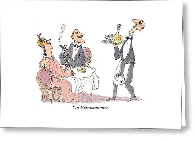 Vin Extraordinaire Greeting Card by William Steig