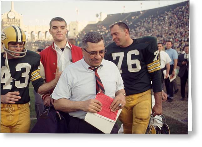 Great Vince Lombardi  Greeting Card by Retro Images Archive