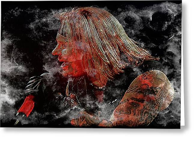 Vince Neil Greeting Card by John Delong