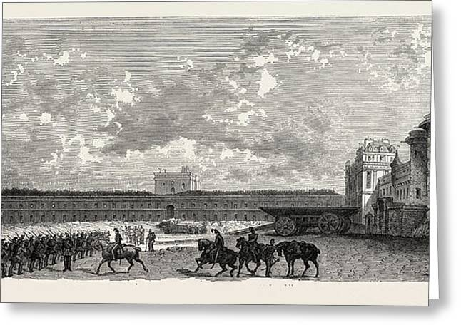 Vincennes. Castle Courtyard From The South Greeting Card by Litz Collection