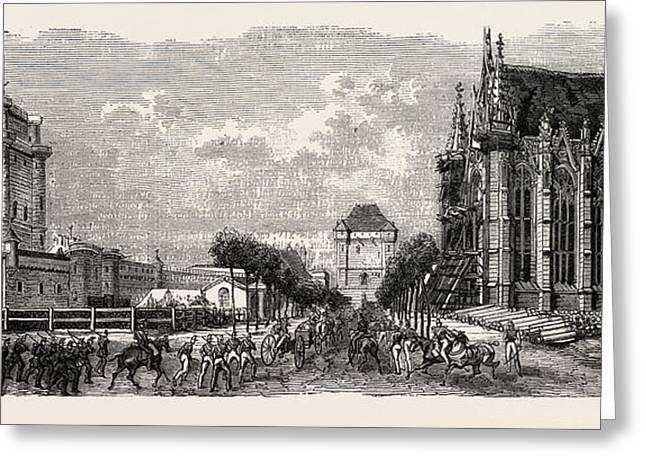 Vincennes Castle Courtyard Greeting Card by Litz Collection