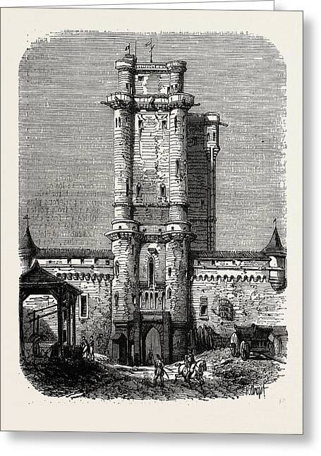 Vincennes, Entrance To The Fort Greeting Card by Litz Collection