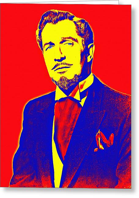 Vincent Price Greeting Card by Art Cinema Gallery