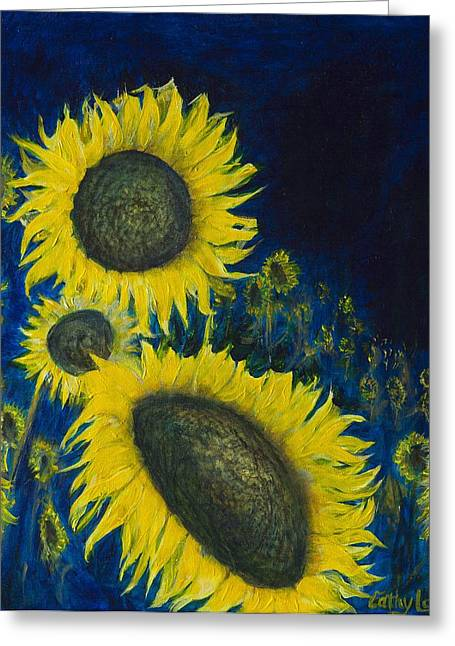 Greeting Card featuring the painting Vincent Remembered by Cathy Long