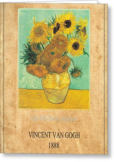 Vincent Van Gogh 2 Greeting Card by Andrew Fare