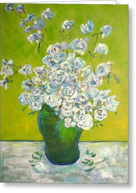 Vincents' Flowers Greeting Card by Marilyn Hurst