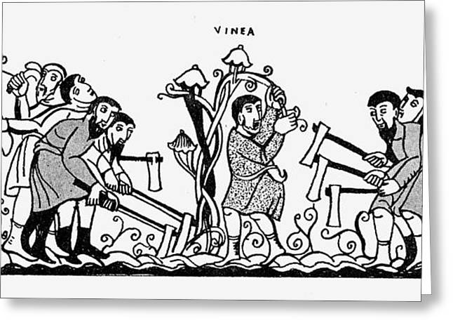 Vinegrowing, 10th Century Greeting Card by Granger