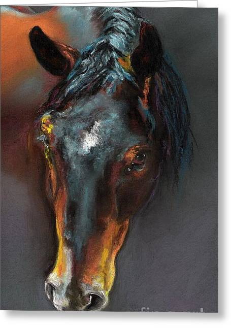 Vinnie Mustang Love Greeting Card by Frances Marino