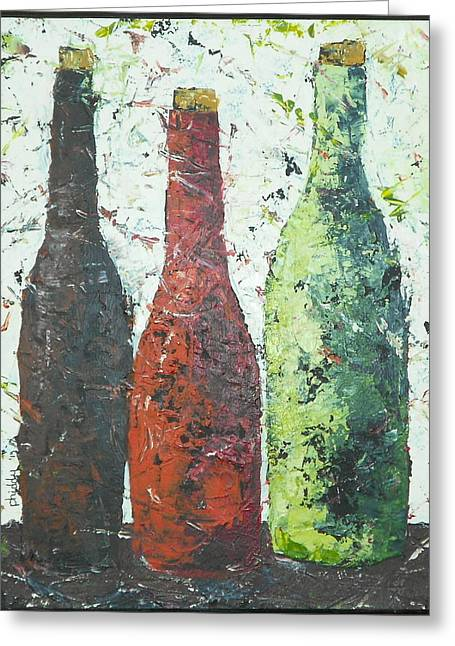 Vino 2 Greeting Card by Phiddy Webb