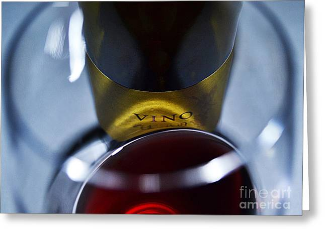 Vino Reflections Greeting Card by John Debar