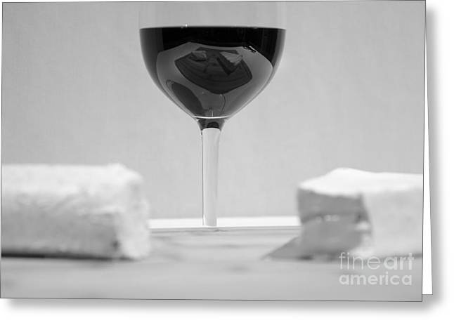 Vino Reflections Reveal Greeting Card by John Debar
