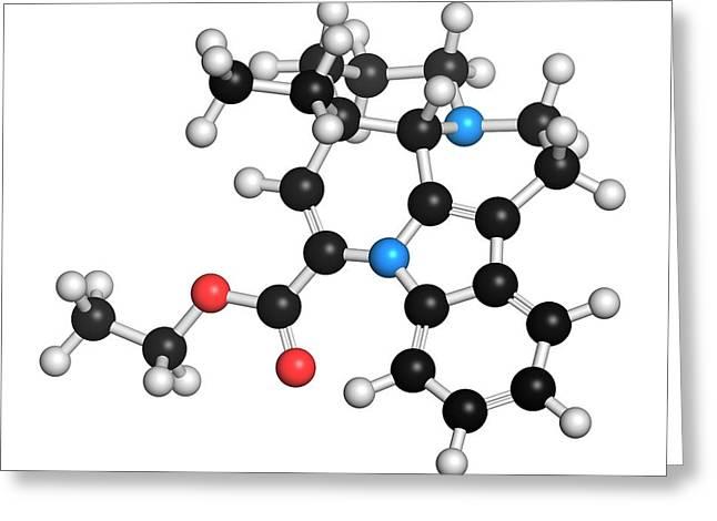 Vinpocetine Molecule Greeting Card by Molekuul