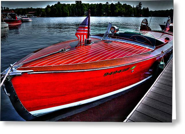 Vintage 1924 Dodge Boat Greeting Card by David Patterson