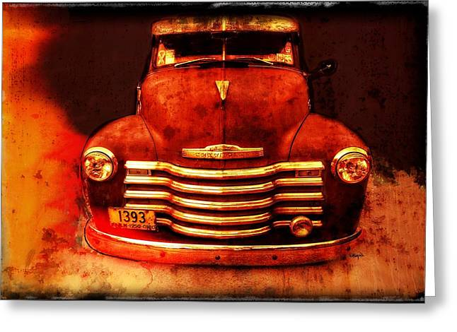Vintage 1950 Chevy Truck Greeting Card