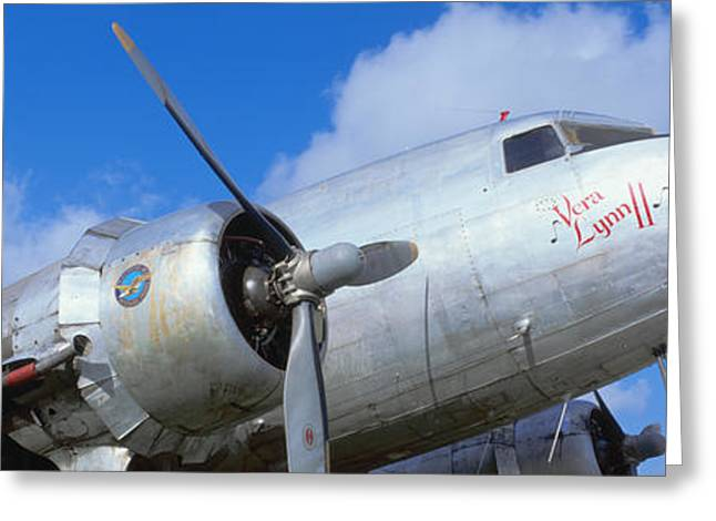 Vintage Aircraft, Burnet, Texas Greeting Card by Panoramic Images