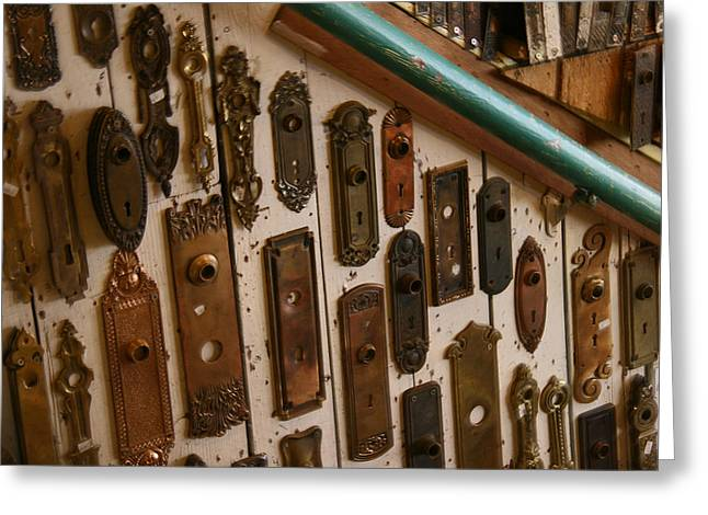 Vintage And Antique Door Knob And Lock Plates Photograph by