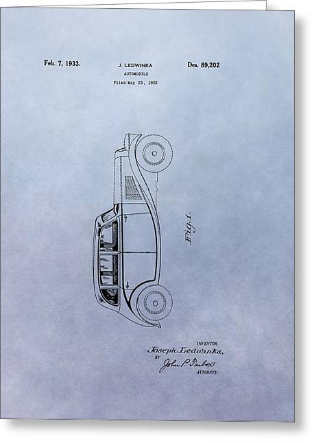 Vintage Automobile Patent Greeting Card by Dan Sproul