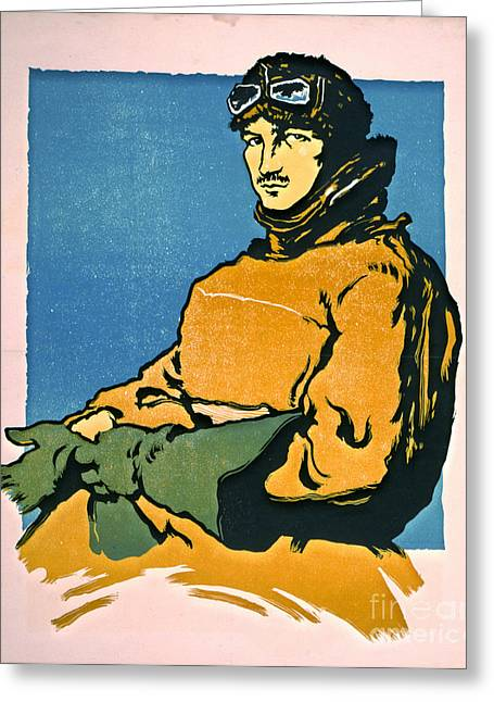 Vintage Aviator 1916 Greeting Card by Padre Art