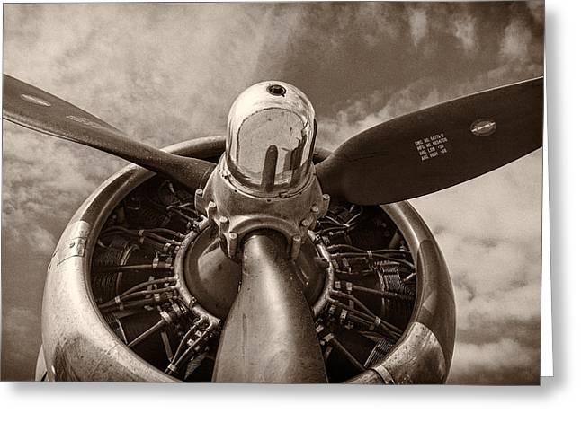 Vintage B-17 Greeting Card