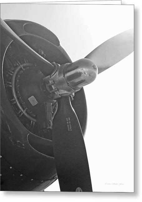 Grumman T B F Avenger Engine And Propeller Greeting Card
