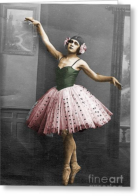 Vintage Ballerina  Greeting Card