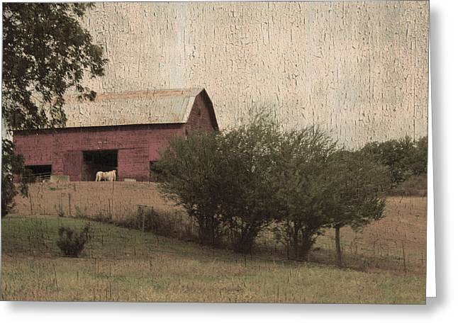 Vintage Barn Scene Greeting Card