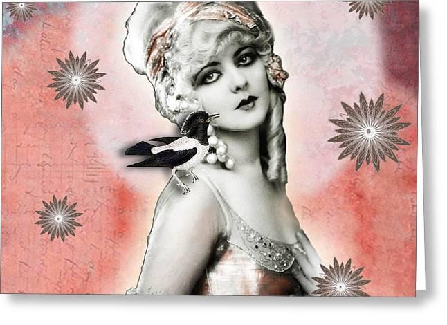 Vintage Beauty Marion Benda Greeting Card by Carolyn Slattery