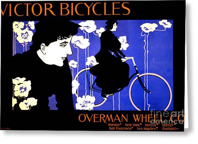Vintage Bicycle Advertisement 1896 Greeting Card by Padre Art
