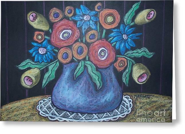 Vintage Blooms Greeting Card by Karla Gerard