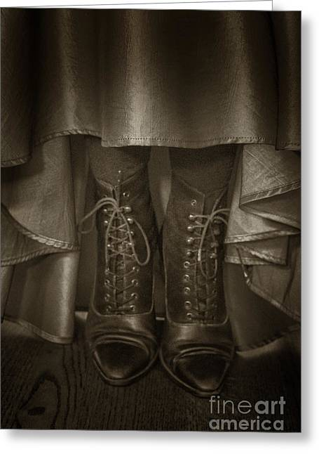 Vintage Boots Greeting Card