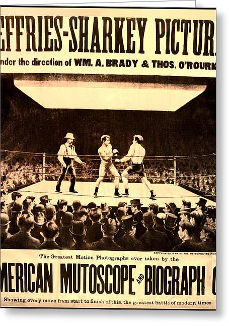 Vintage Boxing Movie Poster Greeting Card by Bill Cannon
