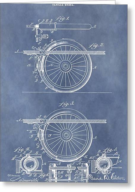 Vintage Brake Patent Greeting Card