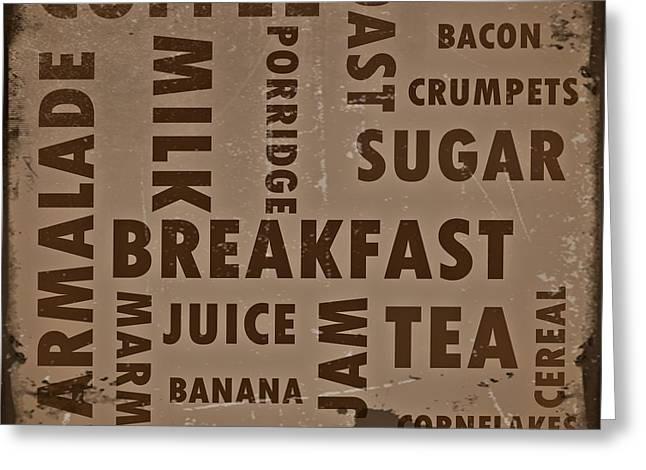 Vintage Breakfast Greeting Card