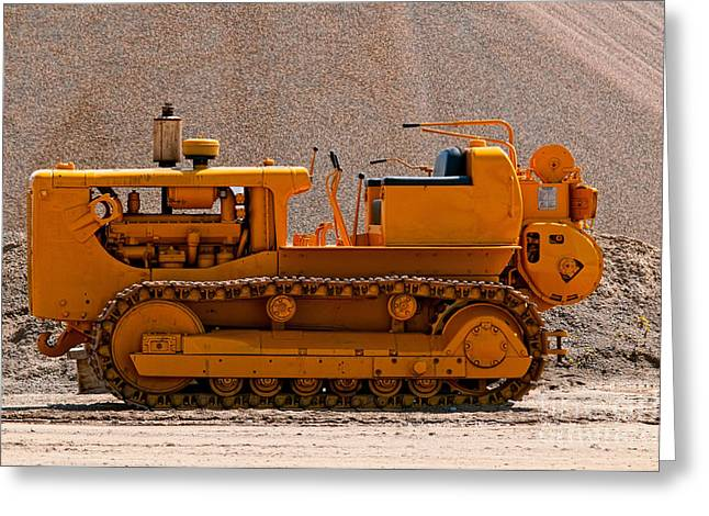 Vintage Bulldozer Greeting Card