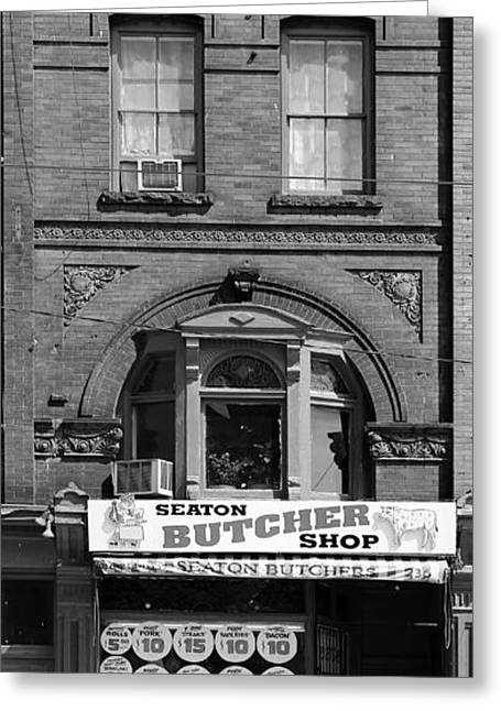 Vintage Butcher Shop 2 Greeting Card by Andrew Fare