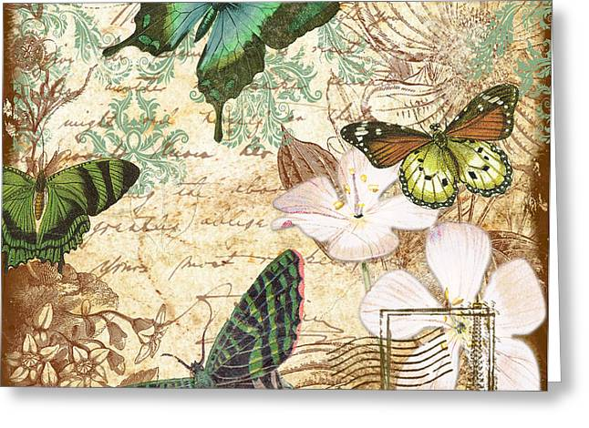 Vintage Butterfly Kisses  Greeting Card