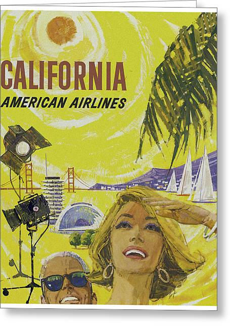 Vintage California Travel Poster Greeting Card