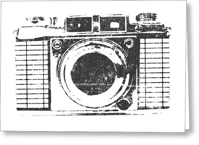 Vintage Camera Greeting Card by Martin Newman
