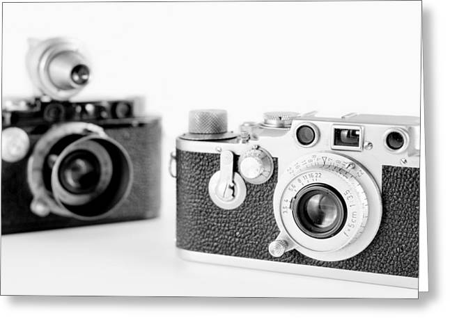 Vintage Cameras Greeting Card by Chevy Fleet